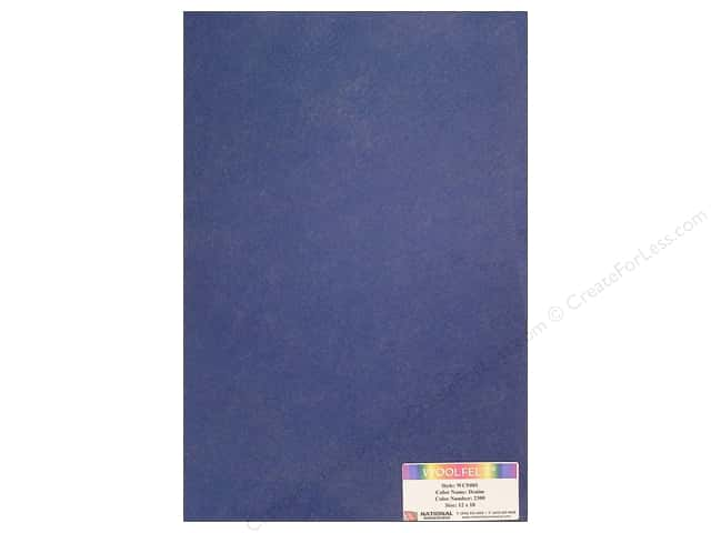 National Nonwovens WoolFelt 12 x 18 in. 20% Denim (12 sheets)