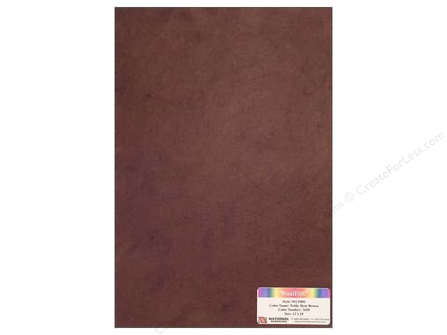 National Nonwovens WoolFelt 12 x 18 in. 20% Teddy Bear Brown (12 sheets)