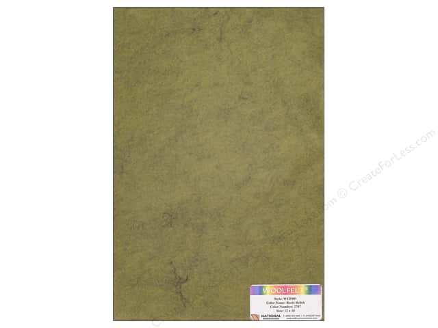 "National Nonwovens WoolFelt 12""x 18"" 20% Reets Relish (12 sheets)"
