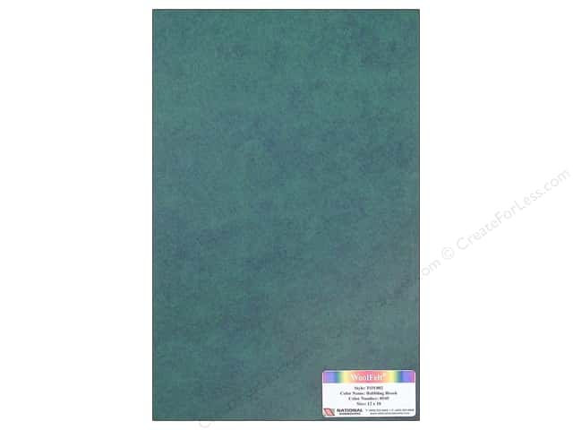 National Nonwovens WoolFelt 12 x 18 in. 35% Babbling Brook (10 sheets)