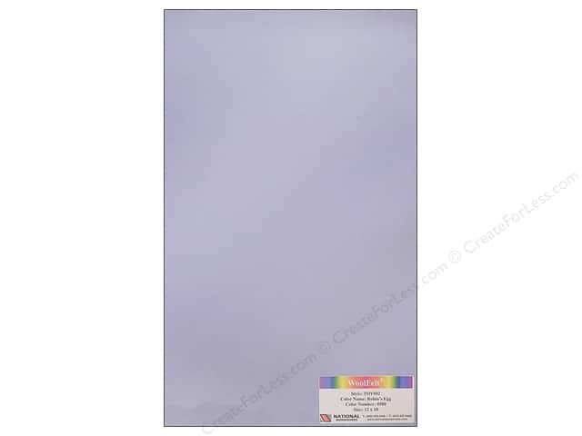 National Nonwovens WoolFelt 12 x 18 in. 35% Robins Egg (10 sheets)