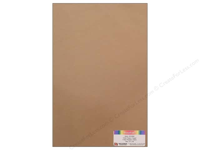 "National Nonwovens WoolFelt 12""x 18"" 35% Camel (12 sheets)"