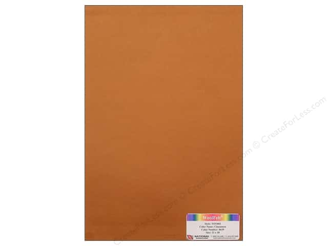 "National Nonwovens WoolFelt 12""x 18"" 35% Cinnamon (12 sheets)"