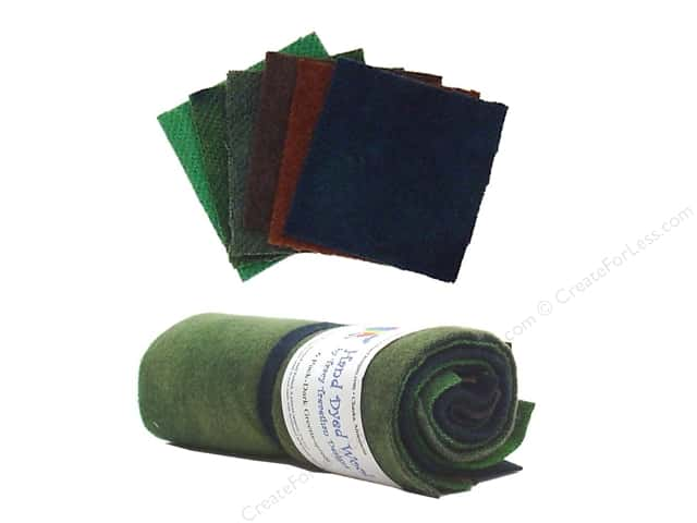 Tracy Trevethan Hand Dyed 100% Wool Dark Green Assorted