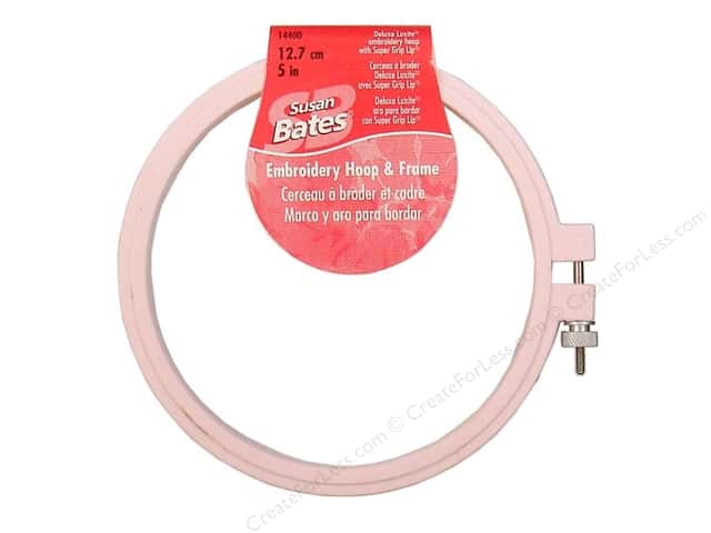 Bates Embroidery Hoops Luxite Pink 5""