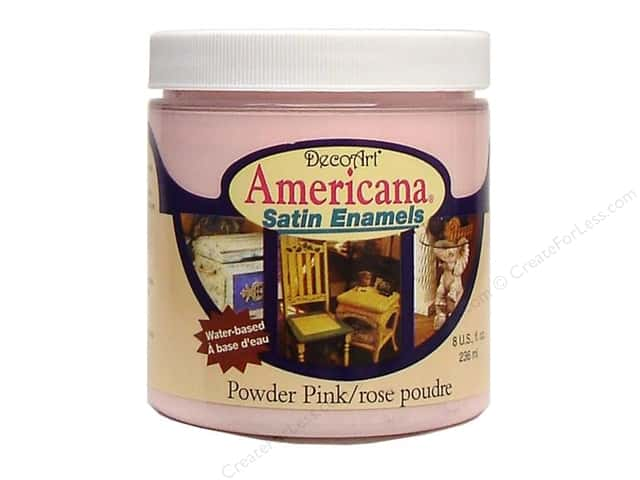DecoArt Americana Satin Enamel Paint 8oz Powder Pink