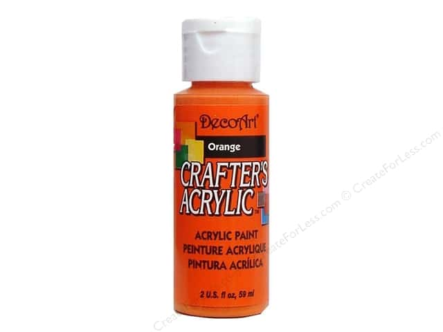DecoArt Crafter's Acrylic Paint 2 oz. #7 Orange