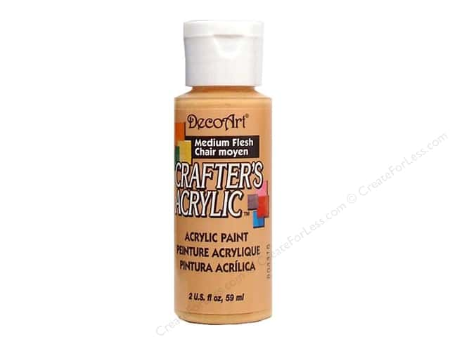 DecoArt Crafter's Acrylic Paint 2 oz. #10 Medium Flesh