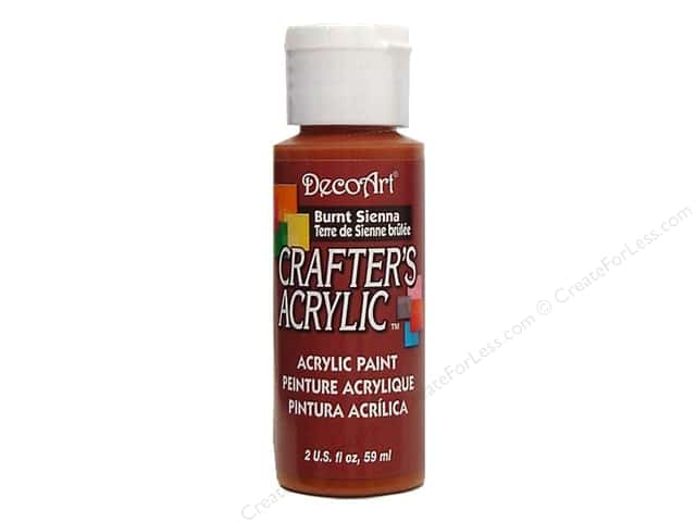 DecoArt Crafter's Acrylic Paint 2 oz. #11 Burnt Sienna
