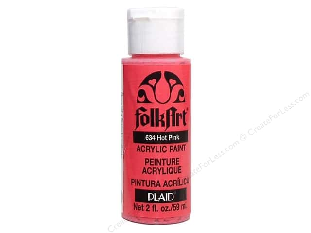 Plaid FolkArt Acrylic Paint 2oz Hot Pink