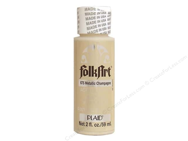 Plaid FolkArt Acrylic Paint 2 oz. #675 Metallic Champagne