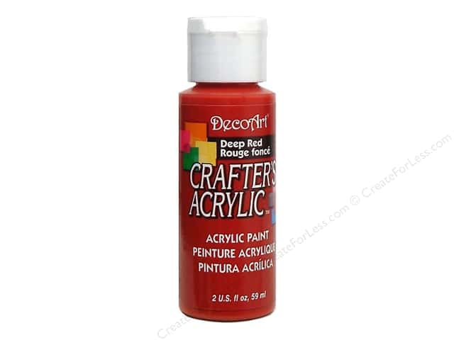 DecoArt Crafter's Acrylic Paint 2 oz. #21 Deep Red