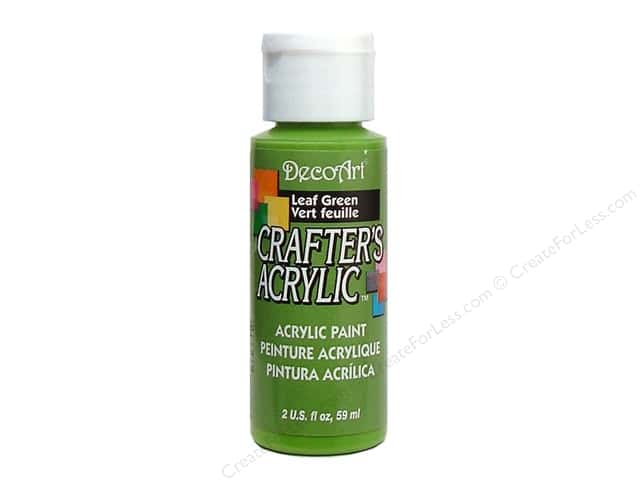DecoArt Crafter's Acrylic Paint 2 oz. #36 Leaf Green