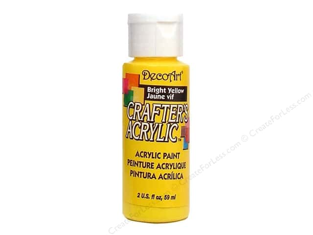 DecoArt Crafter's Acrylic Paint 2 oz. #49 Bright Yellow