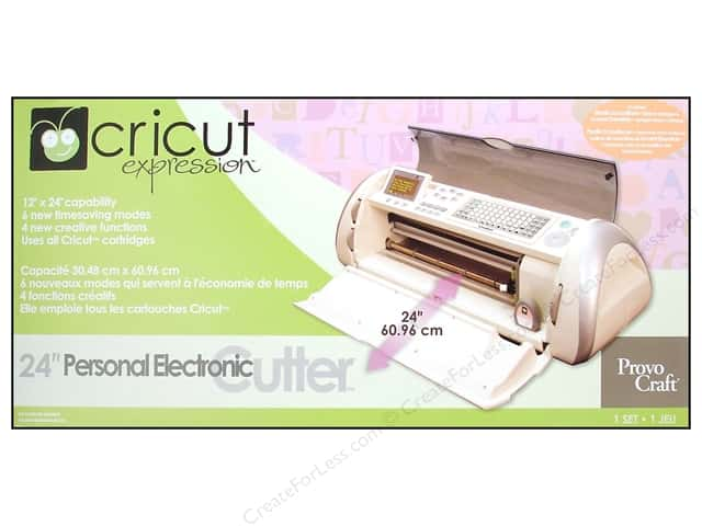 "Provo Cricut Personal Electronic Cutter Expressions 24"" with 2 Cartridges"