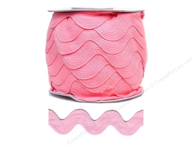 Jumbo Ric Rac by Cheep Trims  1 13/32 in. Dark Pink (24 yards)