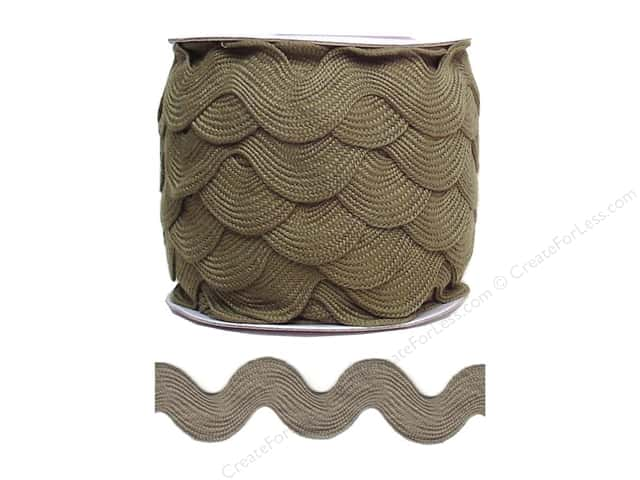 Jumbo Ric Rac by Cheep Trims  1 13/32 in. Dark Taupe (24 yards)