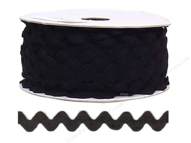 Ric Rac by Cheep Trims  11/16 in. Black (24 yards)