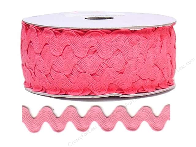 Ric Rac by Cheep Trims  11/16 in. Bright Pink (24 yards)