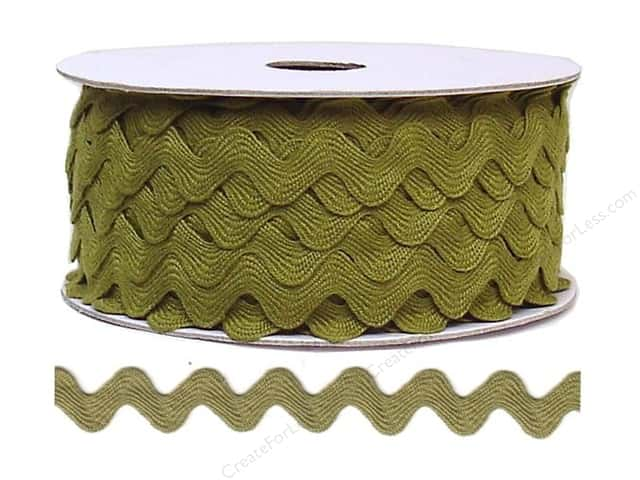 Ric Rac by Cheep Trims  11/16 in. Olive (24 yards)
