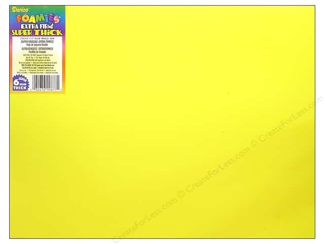 Foamies Foam Sheet 6mm 9 x 12 in. Yellow (5 sheets)