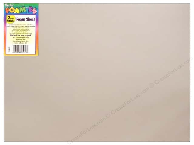 "Darice Foamies Sheet 9""x 12"" 2mm Grey (10 sheets)"