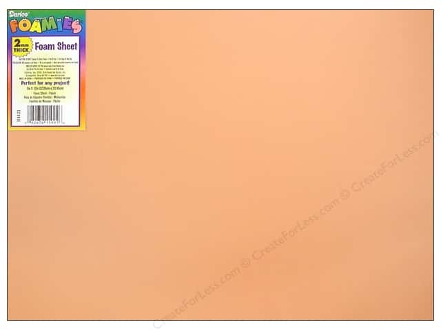 "Darice Foamies Sheet 9""x 12"" 2mm Peach (10 sheets)"