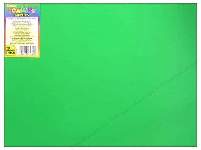 "Darice Foamies Sheet 9""x 12"" 2mm Christmas Green (10 sheets)"