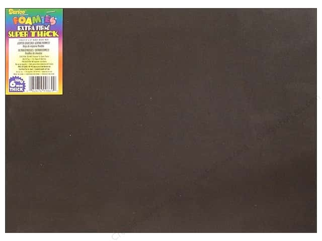 "Darice Foamies Sheet 9""x 12"" 6mm Black (5 sheets)"