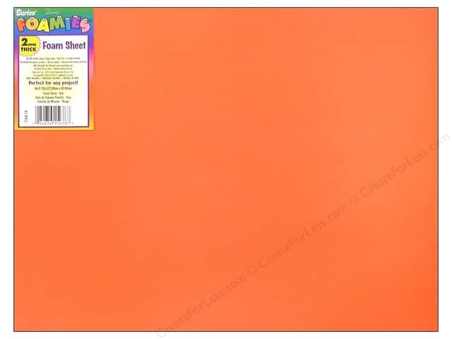 "Darice Foamies Sheet 9""x 12"" 2mm Red (10 sheets)"
