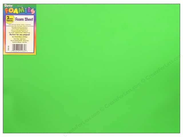 Foamies Foam Sheet 9 x 12 in. 2 mm. Light Green (10 sheets)