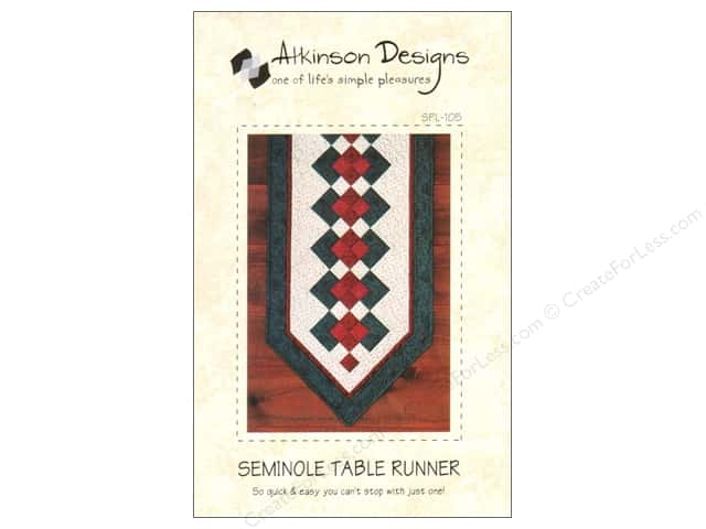 Atkinson Designs Seminole Table Runner Pattern