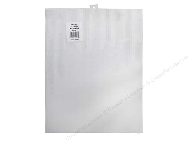 Darice Plastic Canvas #10 Mesh 12 1/2 x 13 1/2 in. Clear Rectangle