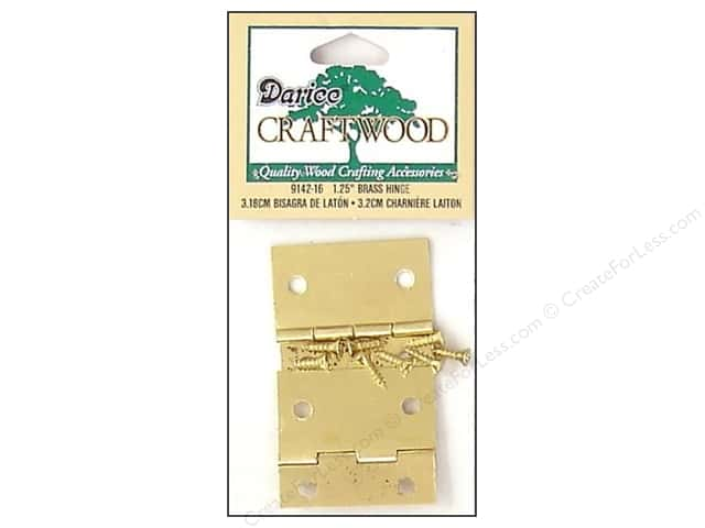 "Darice Hardware Craftwood Hinge 1.25"" Brass 2 sets (3 packages)"