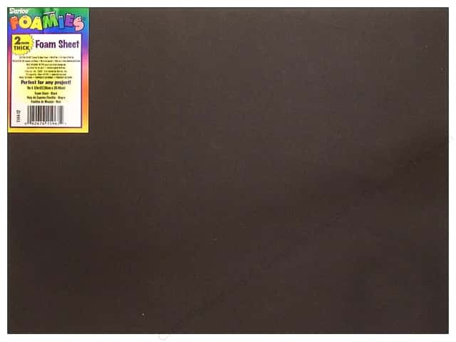 Foamies Foam Sheet 2mm 9 x 12 in. Black (10 sheets)