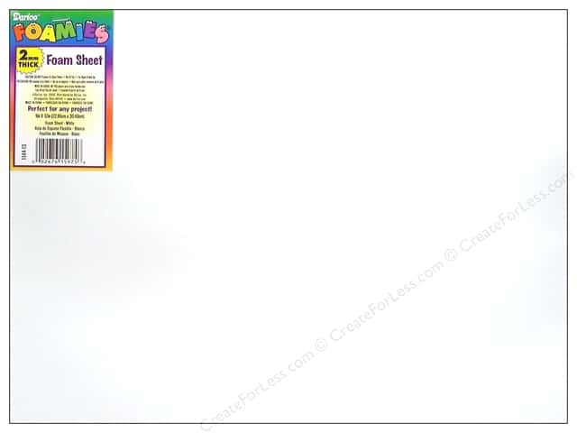 "Darice Foamies Sheet 9""x 12"" 2mm White (10 sheets)"