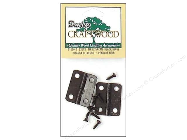 Darice Hinges 1 in. Black 2 pc.