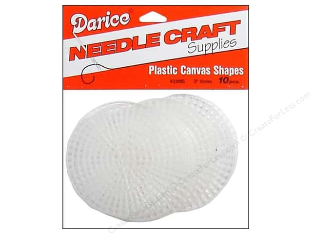 Darice Plastic Canvas #7 Mesh 3 in. Clear Round
