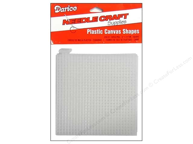 Darice Plastic Canvas #7 Mesh 4 x 4 in. Clear Square