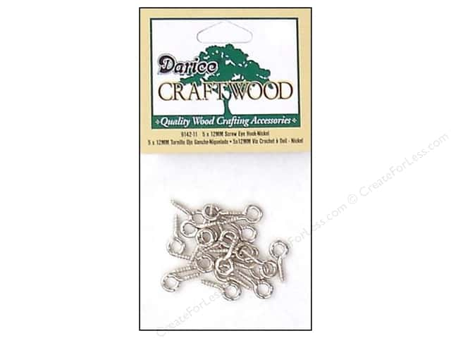 Darice Hardware Craftwood Screw Eye Hook 12mm 20pc