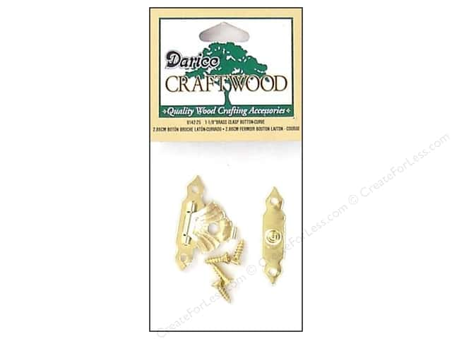 Darice Clasp Button Set 1 1/8 in. Curved Brass 1 pc.