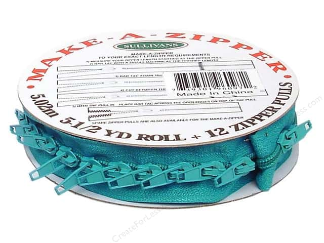Sullivans Make-A-Zipper Kit 5 1/2 yd. Turquoise