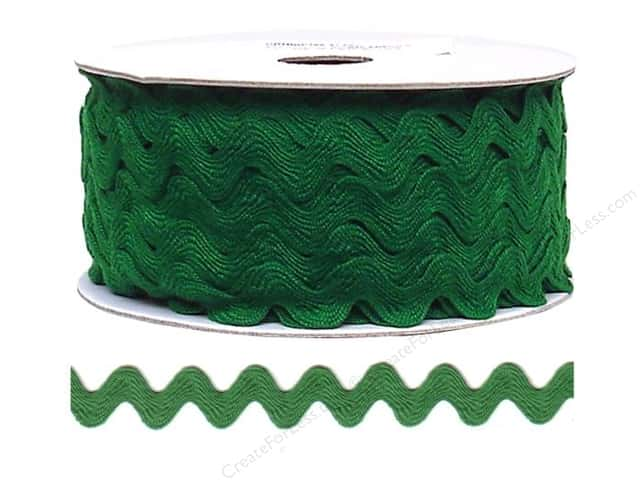 Ric Rac by Cheep Trims  11/16 in. Emerald (24 yards)