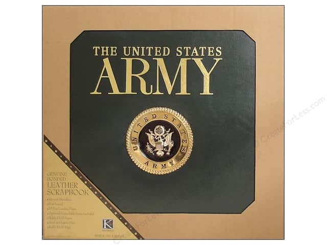 "K&Company Scrapbook Album 12""x 12"" Army"