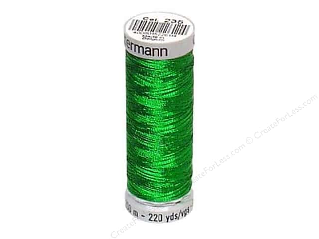 Gutermann Decor Metallic 200M Christmas Green