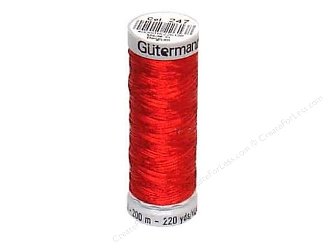 Gutermann Decor Metallic 200M Red
