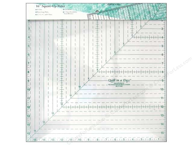 how to use quilt in a day square up ruler