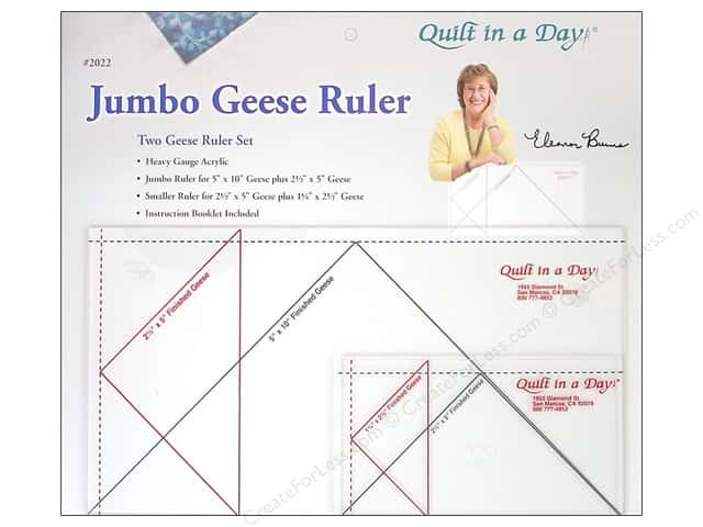 Quilt In A Day Rulers Jumbo Geese Set