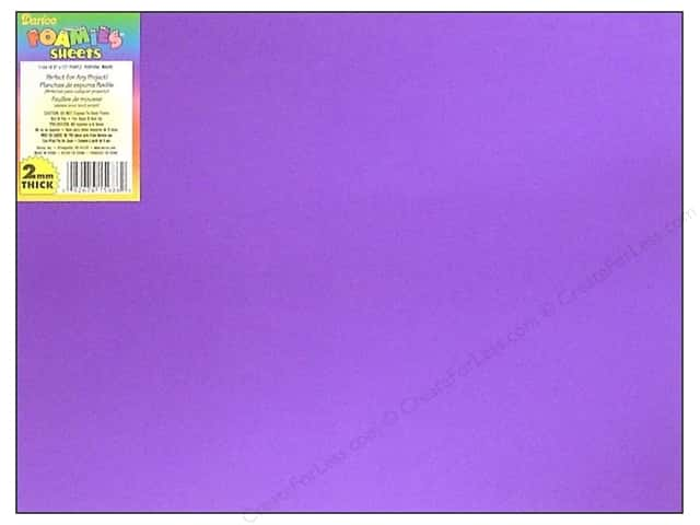 "Darice Foamies Sheet 9""x 12"" 2mm Purple (10 sheets)"