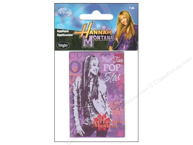 Wrights Appliques Iron On Disney Hannah Montana